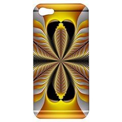 Fractal Yellow Butterfly In 3d Glass Frame Apple Iphone 5 Hardshell Case by Simbadda