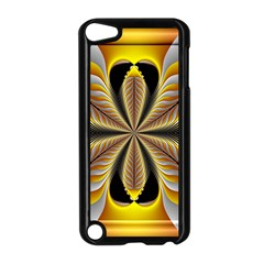 Fractal Yellow Butterfly In 3d Glass Frame Apple Ipod Touch 5 Case (black) by Simbadda