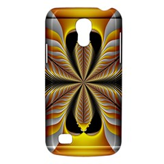 Fractal Yellow Butterfly In 3d Glass Frame Galaxy S4 Mini by Simbadda