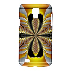 Fractal Yellow Butterfly In 3d Glass Frame Galaxy S4 Active by Simbadda