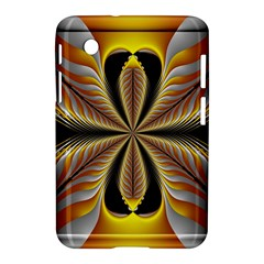 Fractal Yellow Butterfly In 3d Glass Frame Samsung Galaxy Tab 2 (7 ) P3100 Hardshell Case