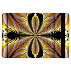 Fractal Yellow Butterfly In 3d Glass Frame Ipad Air 2 Flip by Simbadda
