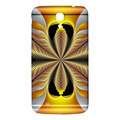 Fractal Yellow Butterfly In 3d Glass Frame Samsung Galaxy Mega I9200 Hardshell Back Case by Simbadda