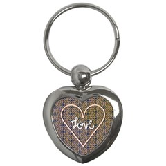 I Love You Love Background Key Chains (heart)