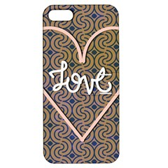 I Love You Love Background Apple Iphone 5 Hardshell Case With Stand