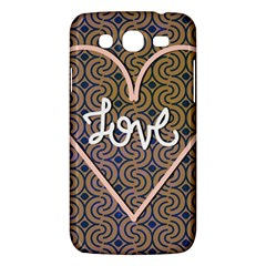 I Love You Love Background Samsung Galaxy Mega 5 8 I9152 Hardshell Case  by Simbadda