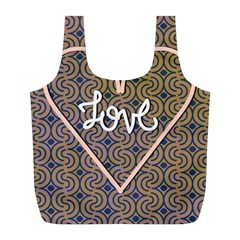 I Love You Love Background Full Print Recycle Bags (l)  by Simbadda