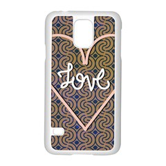 I Love You Love Background Samsung Galaxy S5 Case (white) by Simbadda
