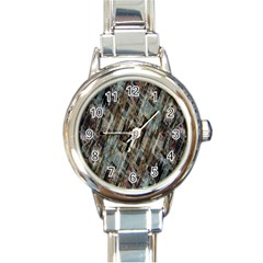 Abstract Chinese Background Created From Building Kaleidoscope Round Italian Charm Watch by Simbadda