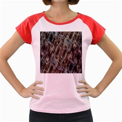 Abstract Chinese Background Created From Building Kaleidoscope Women s Cap Sleeve T Shirt