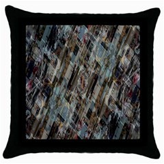 Abstract Chinese Background Created From Building Kaleidoscope Throw Pillow Case (black) by Simbadda