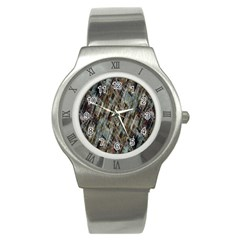 Abstract Chinese Background Created From Building Kaleidoscope Stainless Steel Watch