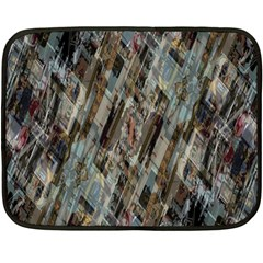 Abstract Chinese Background Created From Building Kaleidoscope Fleece Blanket (mini) by Simbadda