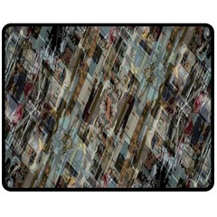 Abstract Chinese Background Created From Building Kaleidoscope Fleece Blanket (medium)  by Simbadda