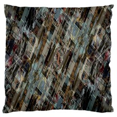 Abstract Chinese Background Created From Building Kaleidoscope Large Cushion Case (two Sides) by Simbadda
