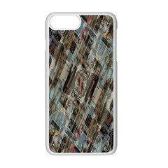 Abstract Chinese Background Created From Building Kaleidoscope Apple Iphone 7 Plus White Seamless Case by Simbadda