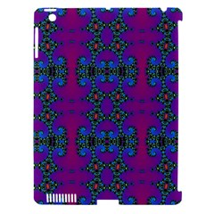 Purple Seamless Pattern Digital Computer Graphic Fractal Wallpaper Apple Ipad 3/4 Hardshell Case (compatible With Smart Cover) by Simbadda