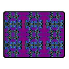 Purple Seamless Pattern Digital Computer Graphic Fractal Wallpaper Double Sided Fleece Blanket (small)  by Simbadda