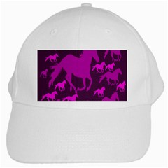 Pink Horses Horse Animals Pattern Colorful Colors White Cap