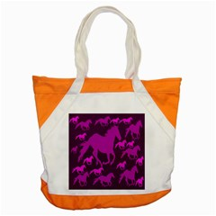 Pink Horses Horse Animals Pattern Colorful Colors Accent Tote Bag by Simbadda