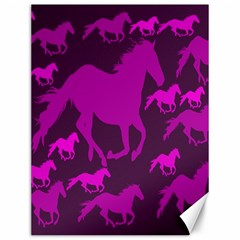 Pink Horses Horse Animals Pattern Colorful Colors Canvas 12  X 16   by Simbadda