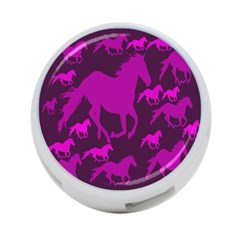 Pink Horses Horse Animals Pattern Colorful Colors 4 Port Usb Hub (one Side) by Simbadda