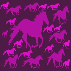 Pink Horses Horse Animals Pattern Colorful Colors Magic Photo Cubes