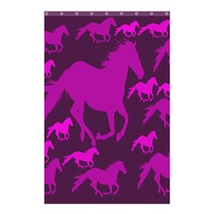 Pink Horses Horse Animals Pattern Colorful Colors Shower Curtain 48  X 72  (small)  by Simbadda