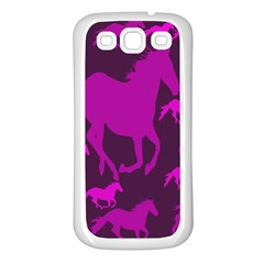 Pink Horses Horse Animals Pattern Colorful Colors Samsung Galaxy S3 Back Case (white) by Simbadda