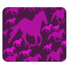 Pink Horses Horse Animals Pattern Colorful Colors Double Sided Flano Blanket (small)  by Simbadda
