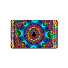 3d Glass Frame With Kaleidoscopic Color Fractal Imag Magnet (name Card) by Simbadda