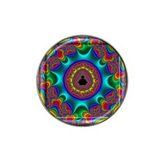 3d Glass Frame With Kaleidoscopic Color Fractal Imag Hat Clip Ball Marker (4 Pack) by Simbadda