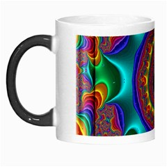 3d Glass Frame With Kaleidoscopic Color Fractal Imag Morph Mugs by Simbadda