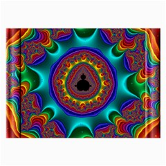 3d Glass Frame With Kaleidoscopic Color Fractal Imag Large Glasses Cloth (2 Side) by Simbadda