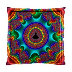 3d Glass Frame With Kaleidoscopic Color Fractal Imag Standard Cushion Case (two Sides) by Simbadda
