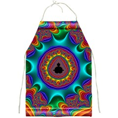 3d Glass Frame With Kaleidoscopic Color Fractal Imag Full Print Aprons by Simbadda