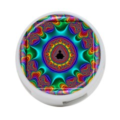 3d Glass Frame With Kaleidoscopic Color Fractal Imag 4 Port Usb Hub (two Sides)