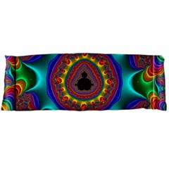 3d Glass Frame With Kaleidoscopic Color Fractal Imag Body Pillow Case Dakimakura (two Sides) by Simbadda