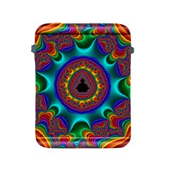 3d Glass Frame With Kaleidoscopic Color Fractal Imag Apple Ipad 2/3/4 Protective Soft Cases by Simbadda