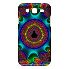 3d Glass Frame With Kaleidoscopic Color Fractal Imag Samsung Galaxy Mega 5 8 I9152 Hardshell Case  by Simbadda