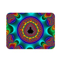 3d Glass Frame With Kaleidoscopic Color Fractal Imag Double Sided Flano Blanket (mini)  by Simbadda