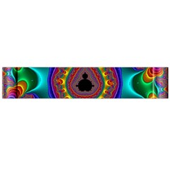 3d Glass Frame With Kaleidoscopic Color Fractal Imag Flano Scarf (large) by Simbadda