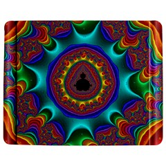 3d Glass Frame With Kaleidoscopic Color Fractal Imag Jigsaw Puzzle Photo Stand (rectangular) by Simbadda