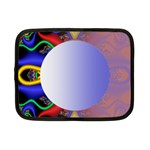 Texture Circle Fractal Frame Netbook Case (Small)  Front