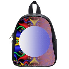 Texture Circle Fractal Frame School Bags (small)