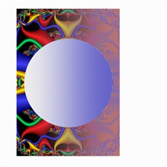 Texture Circle Fractal Frame Large Garden Flag (two Sides) by Simbadda