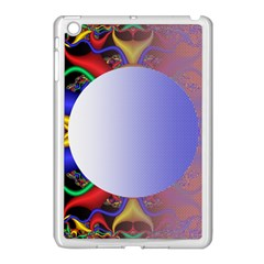 Texture Circle Fractal Frame Apple Ipad Mini Case (white) by Simbadda