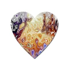 Space Abstraction Background Digital Computer Graphic Heart Magnet by Simbadda