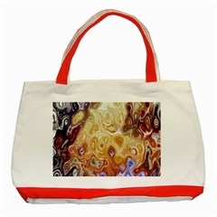 Space Abstraction Background Digital Computer Graphic Classic Tote Bag (red) by Simbadda