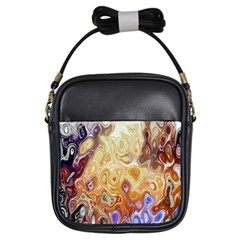 Space Abstraction Background Digital Computer Graphic Girls Sling Bags by Simbadda
